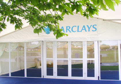 Barclays Bank marquee